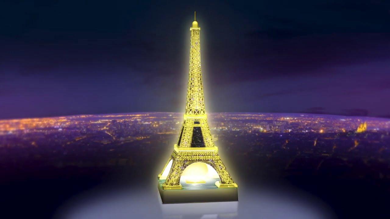 Ravensburger 12579 Tour Eiffel de nuit 216 pièces Puzzle 3d