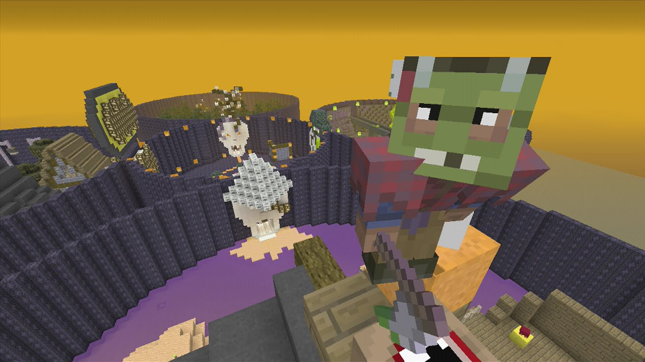 minecraft (xbox 360) - the halloween - hunger games - youtube