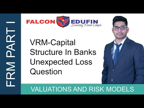FRM PART 1 - VRM - CAPITAL STRUCTURE IN BANKS UNEXPECTED LOSS QUESTION