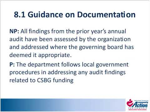 Organizational Standards 2 0, Session 8:  Financial Operations, Category Eight