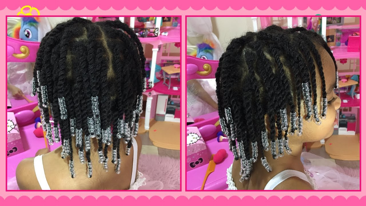 Beads & Twists Tutorial   Natural Hair Styles for Children