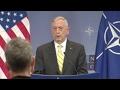US Defense Sec. Mattis On Russian Interference- Full NATO Q&A