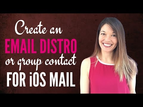 How do you set up a distribution list in apple mail