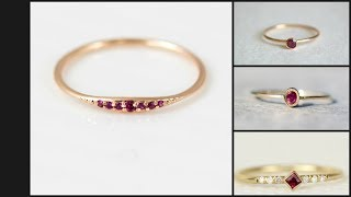 Simple Ruby Stone Rings for Girls || Ruby Rings for Ladies