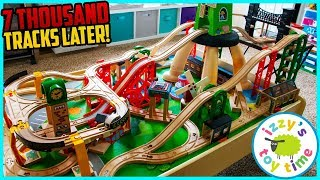 Old School Progress Track! WE'VE MADE SO MANY TRACKS! Fun Toy Trains for Kids! Father and Son