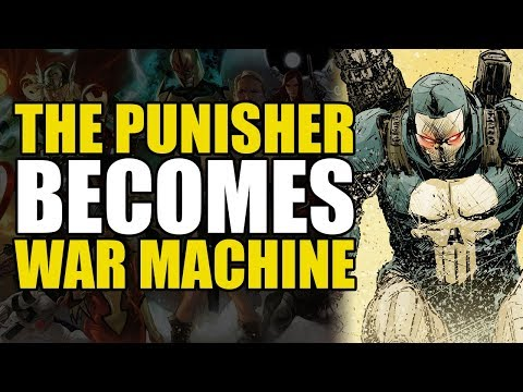 Punisher Becomes War Machine/Nukes a country (Punisher Legacy Vol 1)