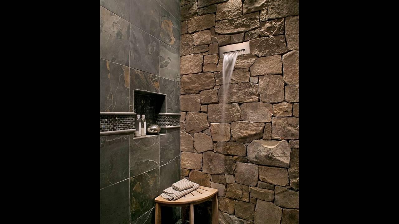wasserfall duschkopf ist eine perfekte passform f r die langen steinwand im badezimmer youtube. Black Bedroom Furniture Sets. Home Design Ideas