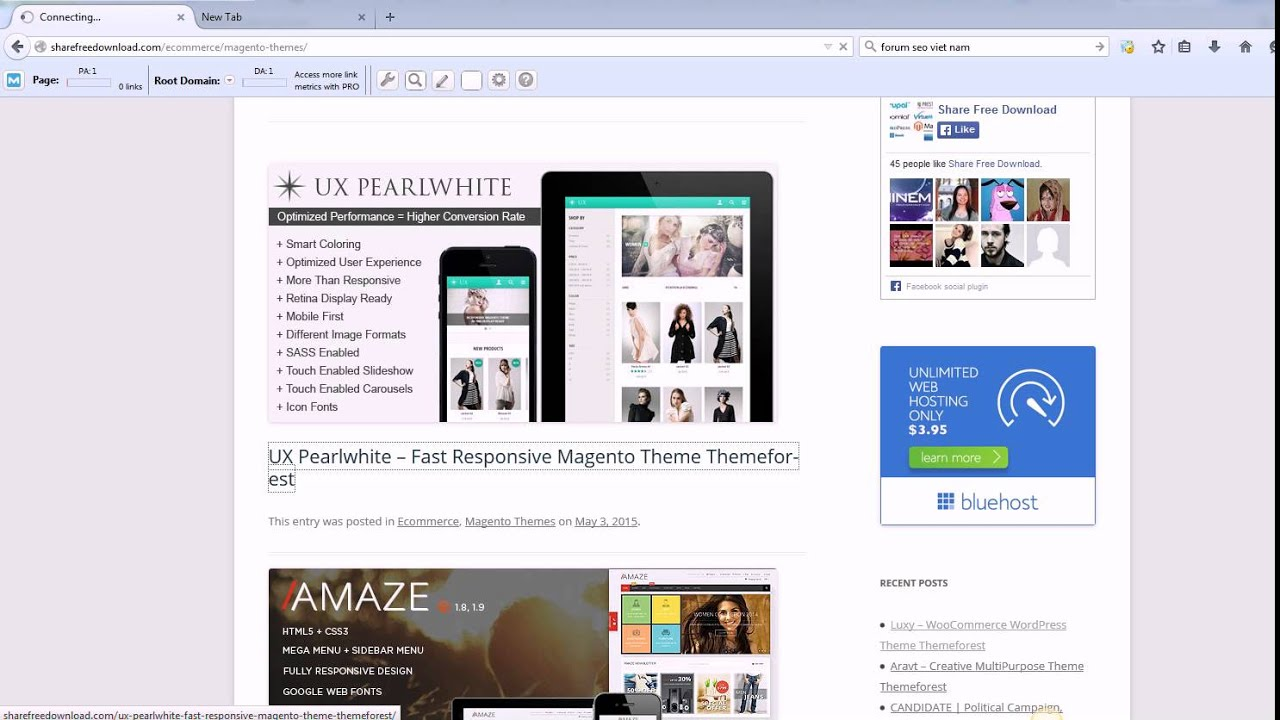 download free magento themes - YouTube