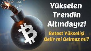 #Bitcoin Analiz - Yukselen Trendin altindayiz! Retest yukselisi gelir mi? Btc Teknik Analiz Forex