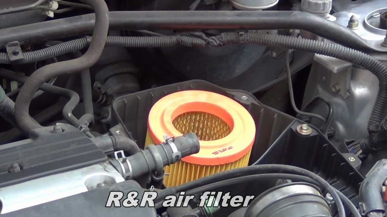 Replace Air Filter On Honda Cr V Youtube