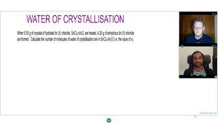 WATER OF CRYSTALLISATION QUESTIONS