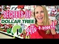 DOLLAR TREE SHOPPING SECRETS FOR CHRISTMAS!  🙌  (gift ideas, DIY & more!)
