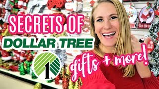 DOLLAR TREE SHOPPING SECRETS FOR CHRISTMAS!  🙌  (gift ideas, DIY & more!)