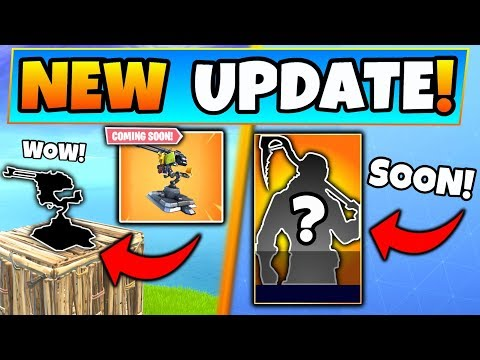 Fortnite Update: NEW MOUNTED TURRET + SKIN BUNDLE! - 7 New Things Coming to Battle Royale!