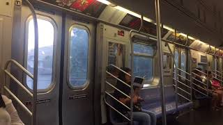 NYC BMT Subway Line: Onboard a Manhattan bound R160B Siemens (Q) train to Church Ave