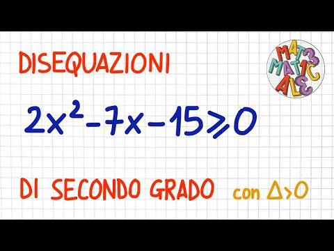 Risolvere disequazioni di secondo grado - casi particolari from YouTube · Duration:  3 minutes 4 seconds