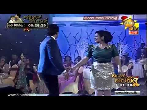 Upeksha Swarnamali And Roshan Ranawana Dance In Hiru Christmas Party