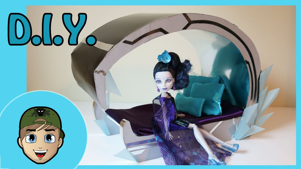 How to make a elle eedee doll bed tutorial monster high for How to make a high bed