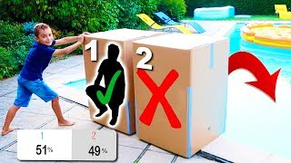 DON'T Push the Wrong MYSTERY BOX into the WATER #2 ! C'est vous qui décidez !