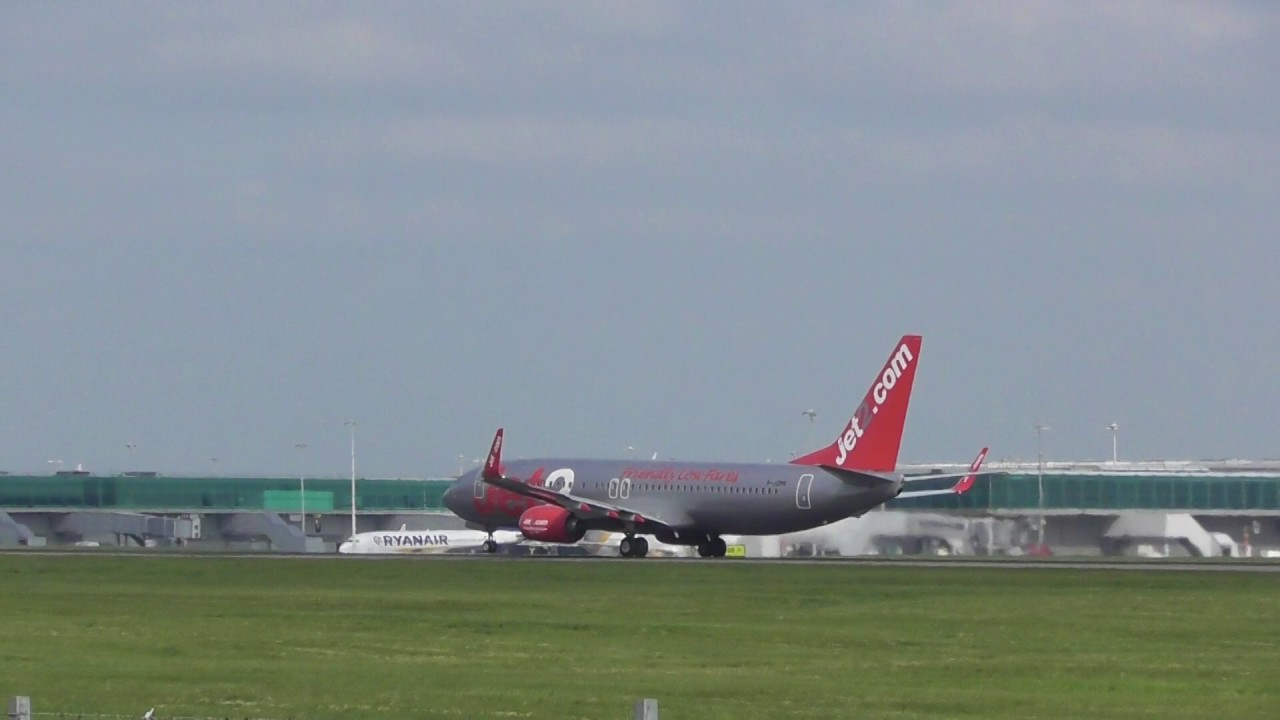 Aviation Jet2 737 Gjzhs Takes Off London Stansted Airport 7may17