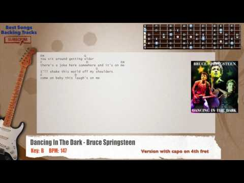 Dancing In The Dark - Bruce Springsteen Guitar Backing Track with chords and lyrics