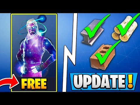 *NEW* Fortnite Update! | All BIG Changes, Galaxy Skin Free, Building Buff! thumbnail