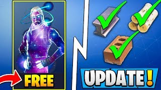 *NEW* Fortnite Update! | All BIG Changes, Galaxy Skin Free, Building Buff!