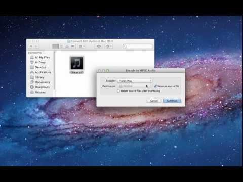 Convert AIFF to M4A Free in Mac OS X