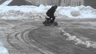 Peters Bierkiste im Schnee