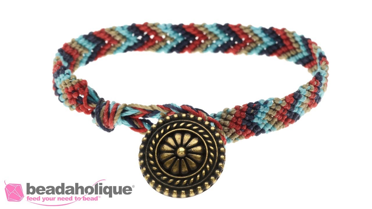 How To Make A Chevron Friendship Bracelet With On Clasp