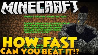 MODDED SURVIVAL ISLAND HOW FAST CAN YOU BEAT MINECRAFT WITH MODS? - MOD CHALLENGE SERIES #2