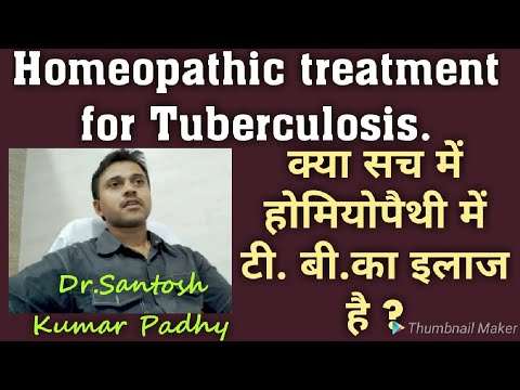 Homeopathic treatment for tuberculosis