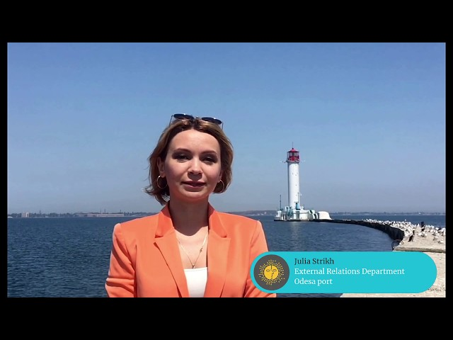 MedCruise member Julia Strikh, External Relations Department at Odessa Port
