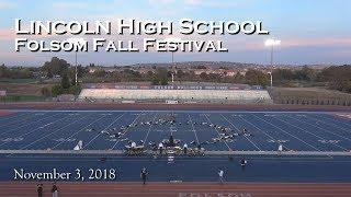 Lincoln High School Marching Band in 2018 Folsom Fall Festival