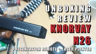 Unboxing & Review KNORVAY N26 powerpoint presentation remote with laser pointer