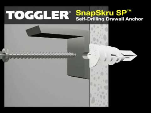 Snapskru Self Drilling Drywall Anchors Youtube
