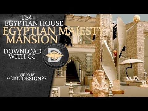 The sims 4 House - EGYPTIAN MAJESTY MANSION ||Egyptian House (with CC) [Download]