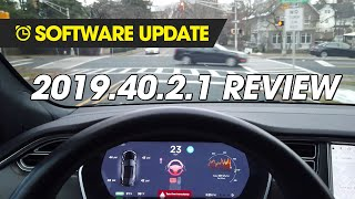 Software Update - 2019.40.2.1 Review (Stop Lights & Signs)