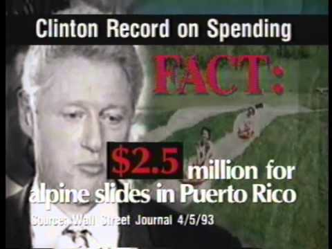 1996 Presidential Campaign Commercial - Bill Clinton Spending
