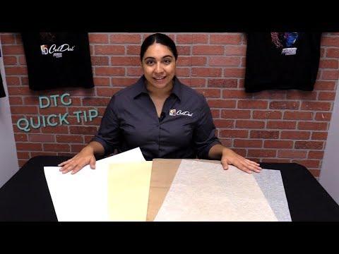 DTG Quick Tip - Silicone vs. Matte Paper vs. Teflon Sheets