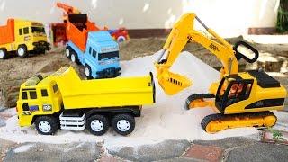 Excavator Digger เล่นรถก่อสร้างทำถนน รถแม็คโคร รถดั้ม รถตักดิน รถบดดิน รถเกรด