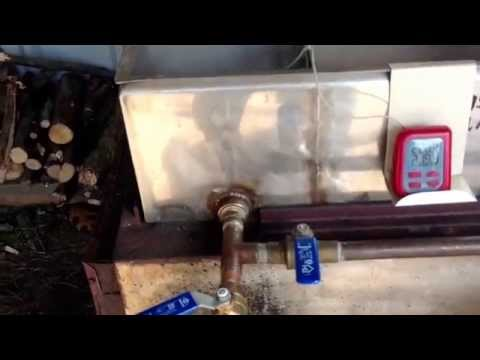 Homemade Maple Syrup Evaporator and Sugar Shack
