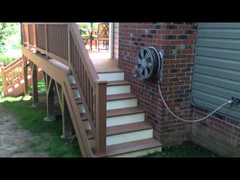 Forestieri Exteriors - Before , During, After, Composite Double Stairs Deck Project