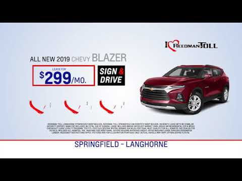 Reedman Toll Auto Group Chevrolet May 2019 Lease Specials