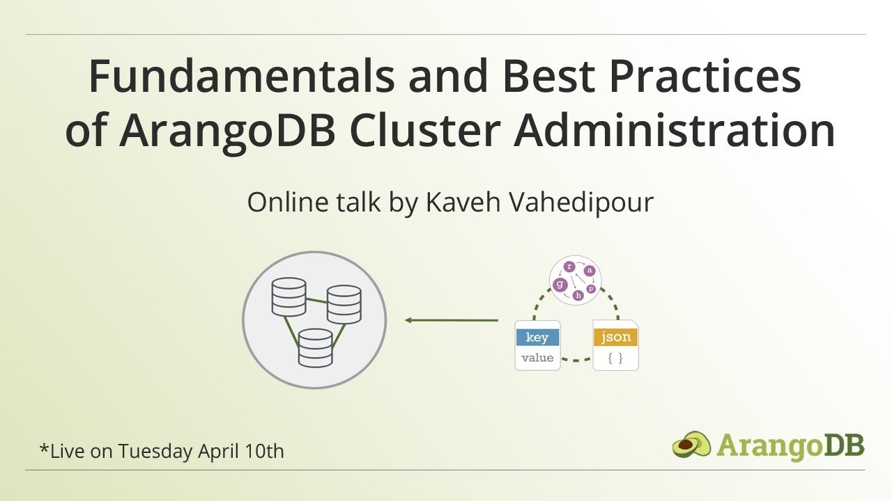 Fundamentals and Best Practices of ArangoDB Cluster Administration