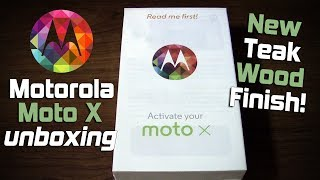 Motorola Moto X unboxing! (New Teak Wood Finish)