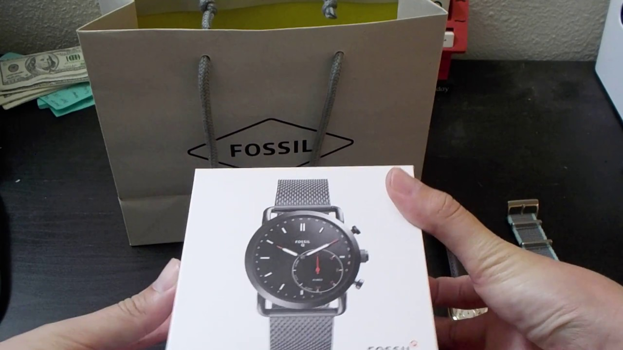 Fossil Q Hybrid Smartwatch Unboxing Youtube