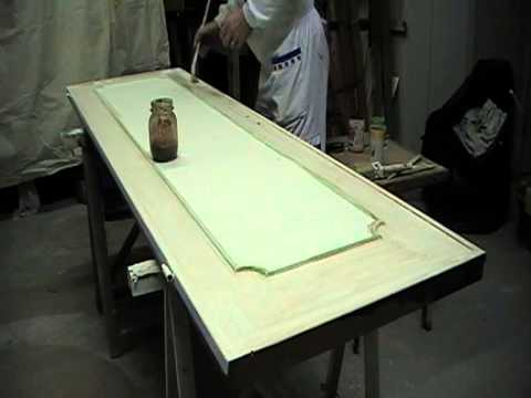 9 dopo l 39 asciugatura della cornice si esegue la spugnatura per un effetto legno invecchiato - Mobili effetto invecchiato ...