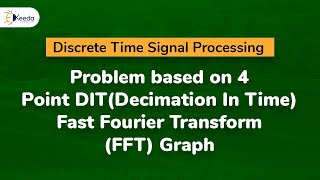 Problem based on 4 Point DIT(Decimation In Time)  Fast Fourier Transform (FFT) Graph