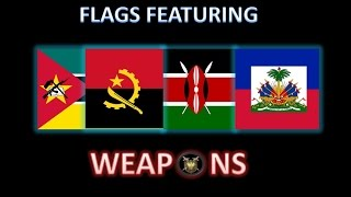 National Flags Featuring Weapons | Flags Array